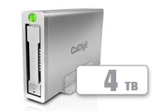 CalDigit 加州数位 AV Pro 2 USB-C 多功能桌面存储带HUB ,为2016、 2017 Macbook, Macbook Pro, Thunderbolt 3电脑提供30W充电, 4TB