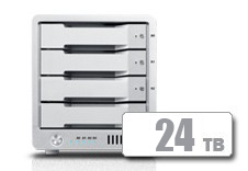 CalDigit 加州数位 T4 Thunderbolt™ 3 RAID  24TB  雷电3磁盘阵列 支持RAID5 含1米雷电3数据线