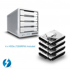 CalDigit 加州数位 T4 Thunderbolt™ 3 RAID  32TB  雷电3磁盘阵列 支持RAID5 含1米雷电3数据线