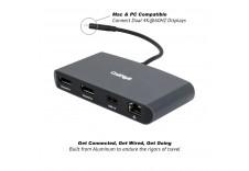 CalDigit 加州数位 Thunderbolt 3 双荧幕DP雷电3扩展坞集线器USB 乙太网络转接器